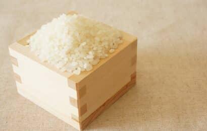 升(ます)に入ったお米