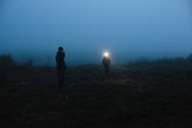 夜間作業 ヘッドライト
