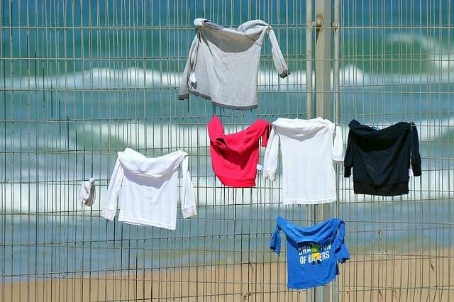 Tシャツを乾かす