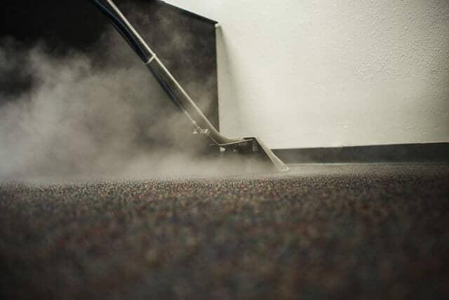 スチームクリーナーでカーペット清掃