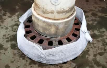 排水溝カバーの取り付け