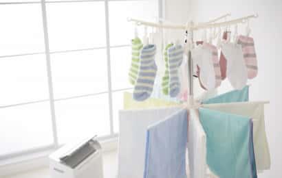室内干しされた洗濯物