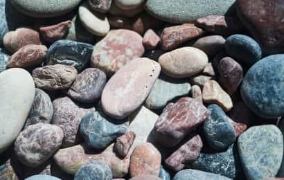 石がたくさんある