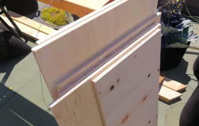 ガーデンシンクの材料:木材