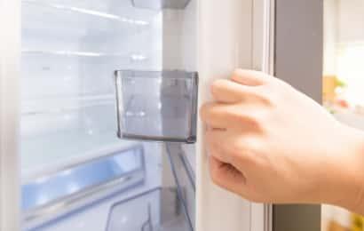 冷蔵庫を開く様子