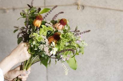 花束の配置イメージ