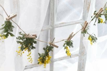黄色いお花のガーランド