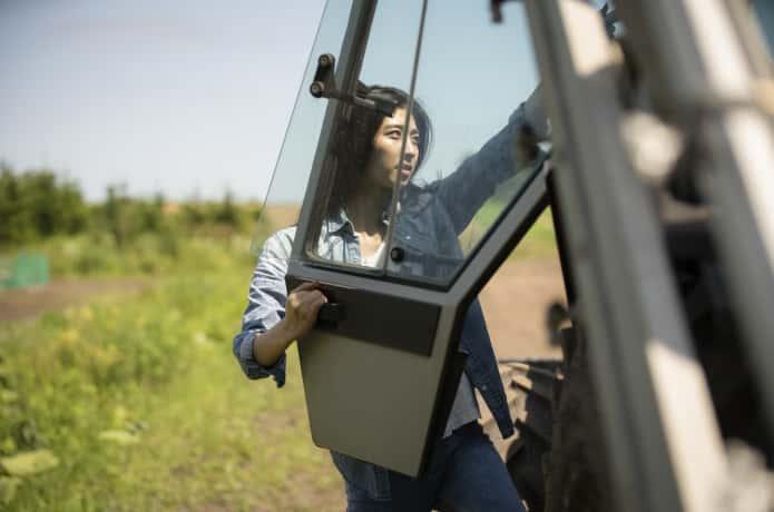 農業に携わる女性