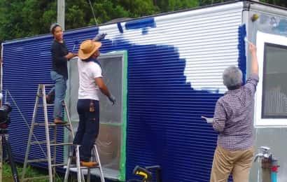 コンテナ塗装作業