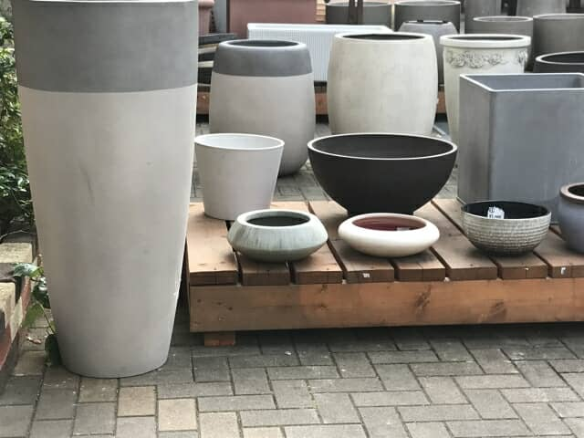 グラスファイバー鉢の種類