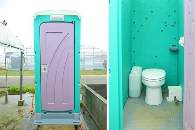 ネポンの農業用仮設トイレ