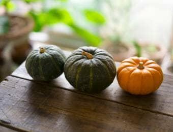 3種類のかぼちゃ