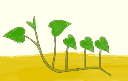 さつまいもの植え方、水平植え