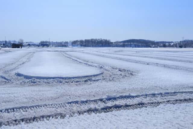 融雪剤がまかれた土地