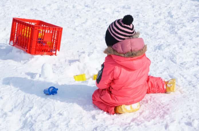 子どもと雪