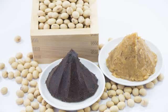 大豆とみそ