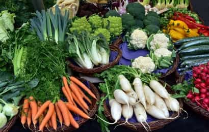 さまざまな形の野菜