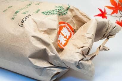 品種の記載された米袋