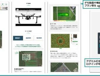 画像解析サービス「agmiru × IROHA」の画面イメージ