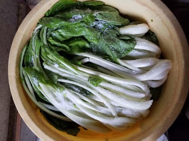 菜っ葉の塩漬け