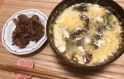 やみつきキクラゲとキクラゲと卵の中華スープ