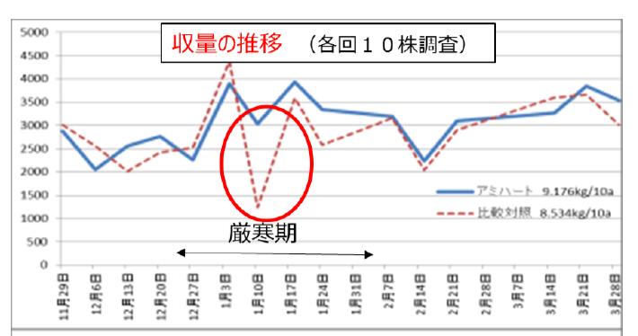 収穫量の推移のグラフ