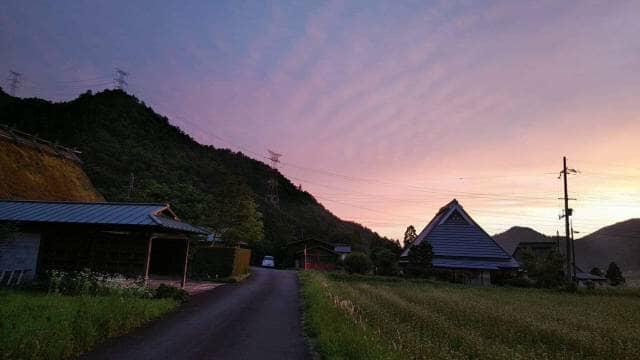 美山町夕景