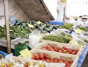 産直市場に並ぶ鎌倉野菜