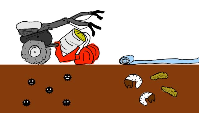 露地栽培での土壌消毒剤を使用した土壌消毒