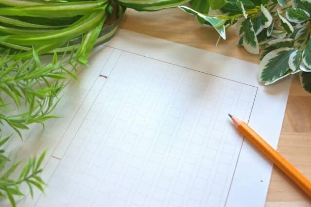 植物と原稿用紙