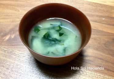 青パパイヤの味噌汁