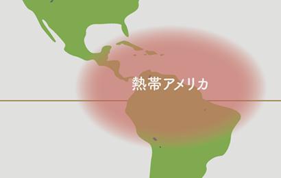 カラテア原産地地図