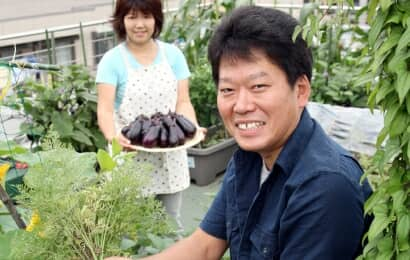 プランター野菜栽培家の安藤康夫さん