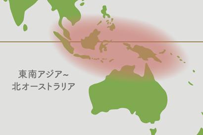 ディスキディア原産地地図