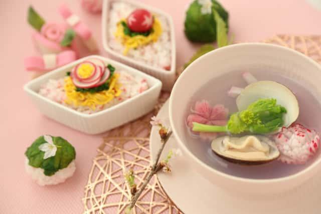 ひなまつりの野菜の飾り切り