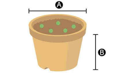 ニンジン栽培に必要な丸型プランター