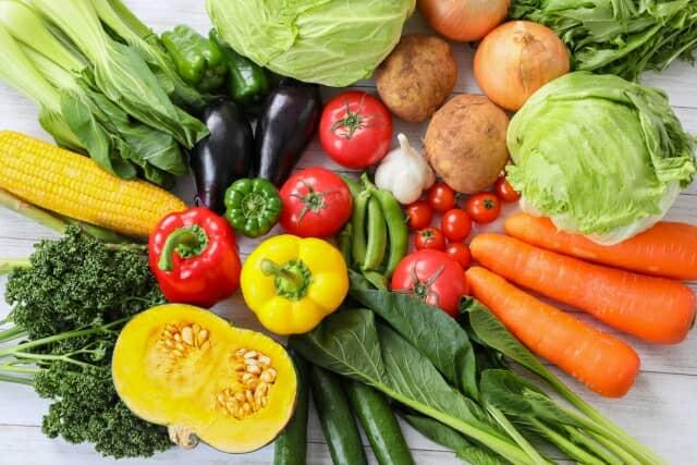 たくさんの種類の野菜