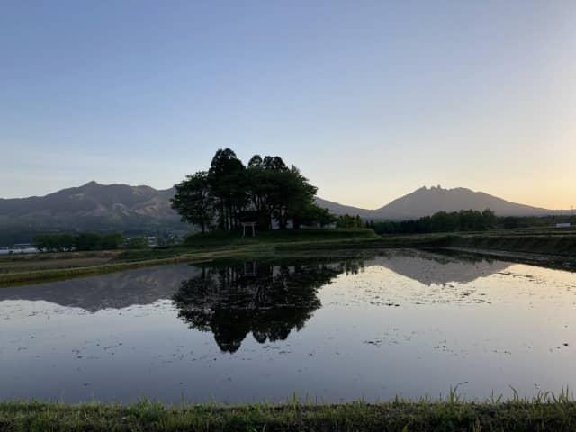 阿蘇の田んぼ風景