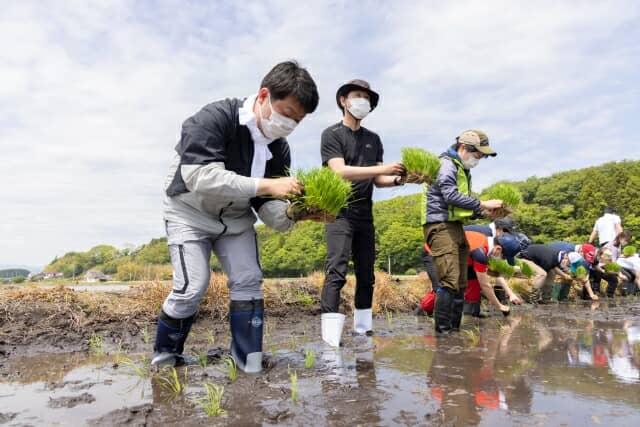 福島県浪江町にて田植えを実施