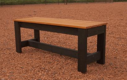 木製ベンチの完成