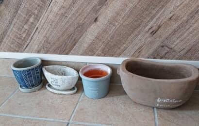 さまざまな形の植木鉢