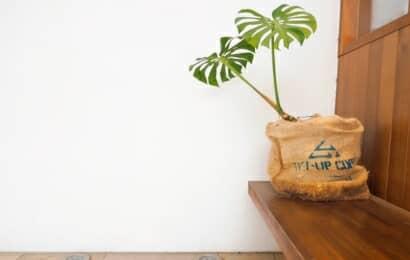 ジュートの植木鉢カバー