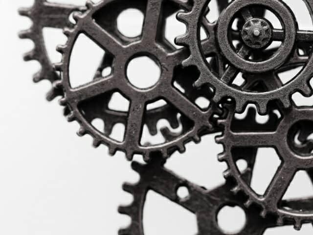 歯車の嚙み合わせ 回転するギヤ イメージ素材