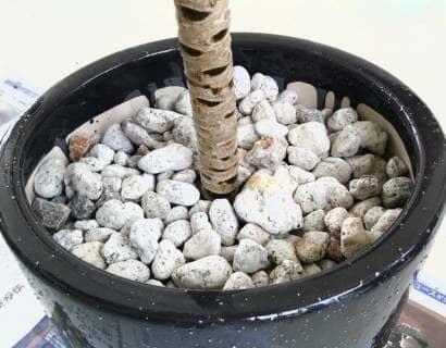 飾り石を載せる