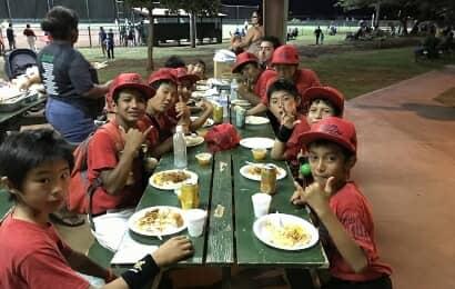 野球チームの食事