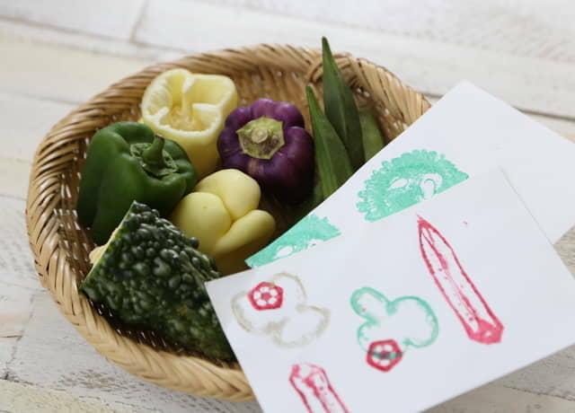 夏野菜と野菜スタンプカード