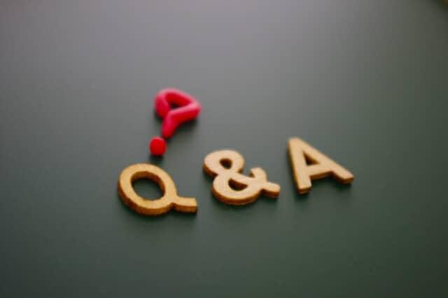 質疑応答 Q&A 文字