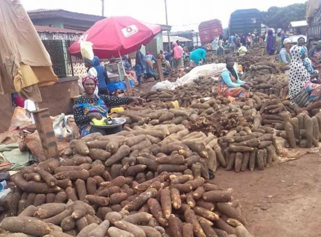ガーナの市場