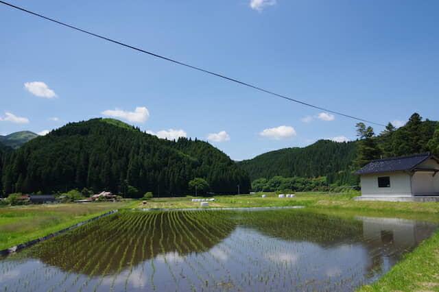 真庭市の農村の風景