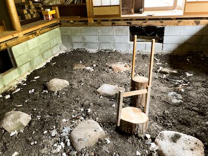 作りかけの土間